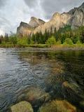 Yosemite waterfall reflection in water Stock Photography
