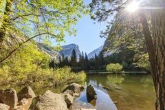 Yosemite waterfall at Yosemite national park Royalty Free Stock Image