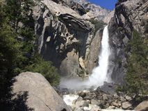 Yosemite: waterfalls 2 royalty free stock photo