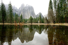 Yosemite in winter Royalty Free Stock Image