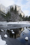 Yosemite winter snow Stock Photos