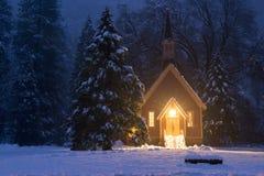 Yosemite zimy kościół Zdjęcie Stock