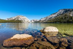 Yosemites backcountry an der goldenen Stunde lizenzfreie stockfotografie