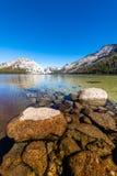 Yosemites backcountry an der goldenen Stunde stockbilder