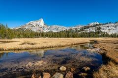 Yosemites backcountry an der goldenen Stunde stockfotografie