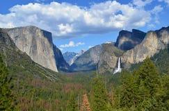 Yosemitevallei, Californië, de V.S., de lentelandschap stock afbeelding