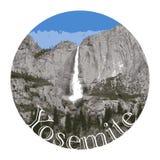 Yosemitewaterval, het Nationale Park van de V.S. stock illustratie