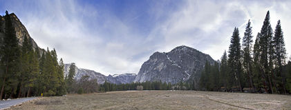 Yosetime National Park Panoramic View Royalty Free Stock Images