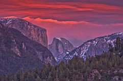 Yosetime National Park Panoramic View Royalty Free Stock Photography