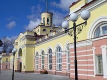Yoshckar-Ola Russia della stazione ferroviaria. Fotografia Stock