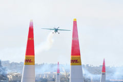 Yoshihide Muroya von Japan führt während Red Bull-Wettfliegen durch Lizenzfreie Stockfotos
