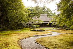 Yoshikien zen garden Stock Image