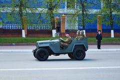 Yoshkar-Ola, Rússia - 9 de maio de 2016 Equipamento militar do exército do russo Parada da vitória Fotografia de Stock