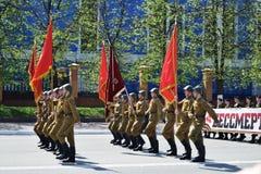 Yoshkar-Ola, Rússia - 9 de maio de 2016 Parada da vitória Foto de Stock Royalty Free