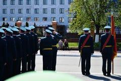 Yoshkar-Ola, Rússia - 9 de maio de 2016 Parada da vitória Os soldados demonstram sua prontidão para defender sua pátria Imagem de Stock