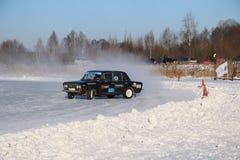 YOSHKAR-OLA, RUSSIA - JANUARY 20, 2018: Winter auto show - Drift stock images