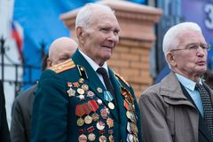 Veteran of the Second World War. Yoshkar-Ola, Russia - May 9, 2017 Veteran of the Second World War during the Victory Day parade Stock Images