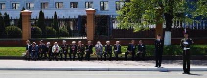 Yoshkar-Ola Ryssland - Maj 9, 2016 Veterans av det stora patriotiska kriget Royaltyfri Fotografi