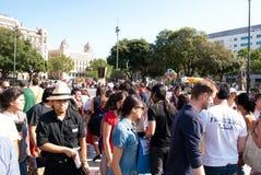 #YoSoy132 Barcellona Fotografia Stock
