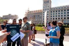 #YoSoy132 Barcellona Fotografia Stock Libera da Diritti