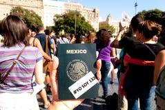 #YoSoy132 Barcellona Immagini Stock Libere da Diritti