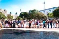#YoSoy132 Barcellona Fotografie Stock
