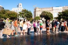 #YoSoy132 Barcellona Immagine Stock