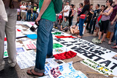 YoSoy132 Barcellona Fotografie Stock Libere da Diritti