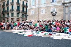 YoSoy132 Barcellona Immagini Stock Libere da Diritti