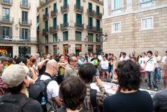 YoSoy132 Barcellona Immagini Stock