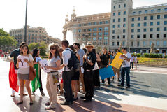 #YoSoy132 Barcelona Stock Photos
