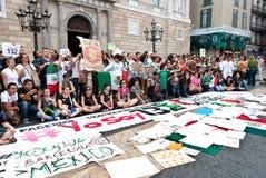 YoSoy132 Barcelona Royalty Free Stock Photo