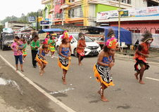Yospan Dance on Art and Cultural Festival 2017. Yospan Dance - Yosim Pancar - from Biak on a parade. First ever Art and Cultural Festival in Manokwari, West Stock Photo