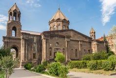 Yot Verk kyrka i mitten av Gyumri Royaltyfri Fotografi