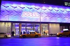 Yotel Hotel - Times Square New York. Yotel Hotel located in Times Square New York Royalty Free Stock Image