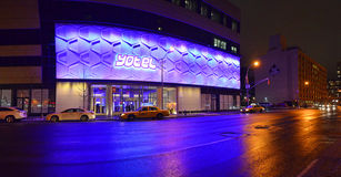 Yotel Hotel - Times Square New York. Yotel Hotel located in Times Square New York Stock Photography