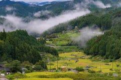 Yotsuya κανένας τομέας ρυζιού χωριών και πεζουλιών Semmaida Στοκ φωτογραφίες με δικαίωμα ελεύθερης χρήσης