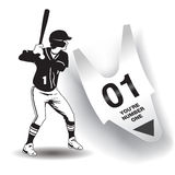 You're number one baseball artwork. You're number one baseball artwork for print or web Stock Photos