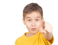 You!. Young teenagers pointing at camera royalty free stock photography