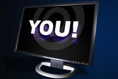 You. Monitor with You Stock Photos