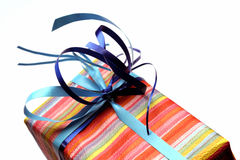For you. Colorful gift on white background Stock Photo