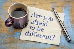Are you afraid to be different? Stock Photo