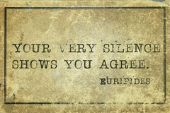 You agree  Euripides Stock Image