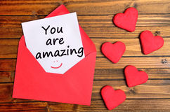 You are amazing text Stock Images