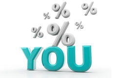 You And Percentage Stock Image