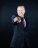 You. Angry man pointing with his finger Royalty Free Stock Photos
