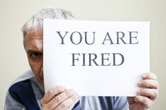 Free You Are Fired Royalty Free Stock Photography - 46510897
