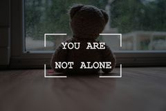 Free You Are Not Alone Sign Stock Image - 160466371