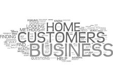 Are You Aware Of Your Home Business Customers Needs Word Cloud Concept Stock Photography