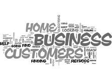 Are You Aware Of Your Home Business Customers Needsword Cloud Stock Photography